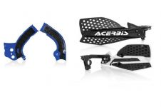 Acerbis Frame Cover X-Grip Blue YZF 250 450 14-17 X Ultimate HandGuards BLK SIL